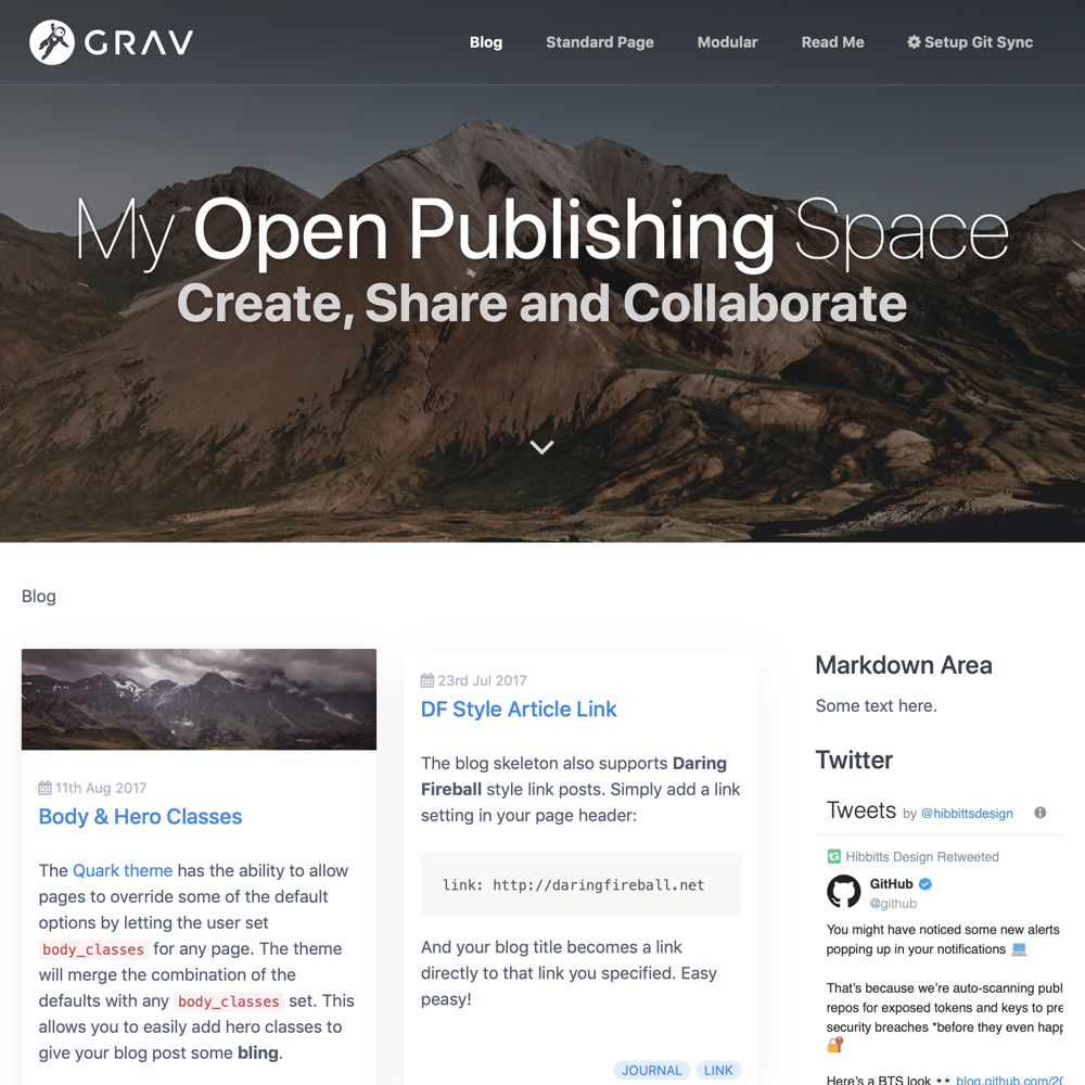 Grav Open Publishing Space